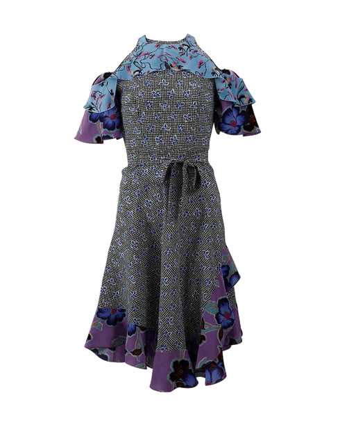 ETRO CLOTHINGDRESSMISC Cold Shoulder Print Dress