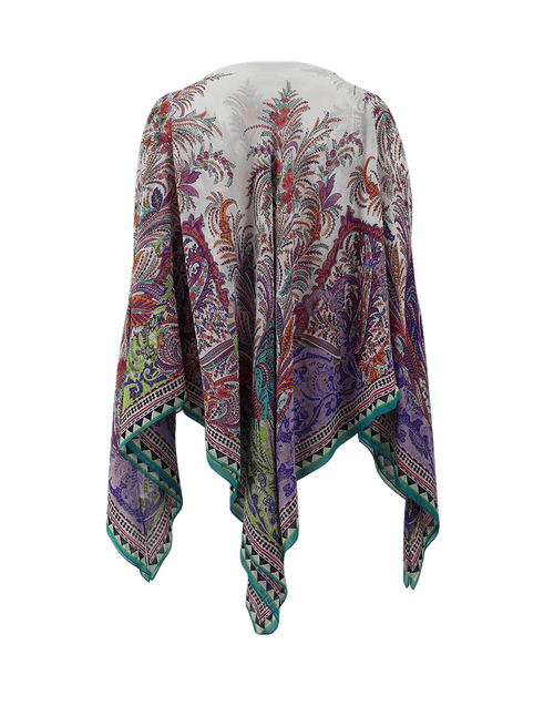 ETRO CLOTHINGTOPMISC SILK / O/S Cold Shoulder Poncho