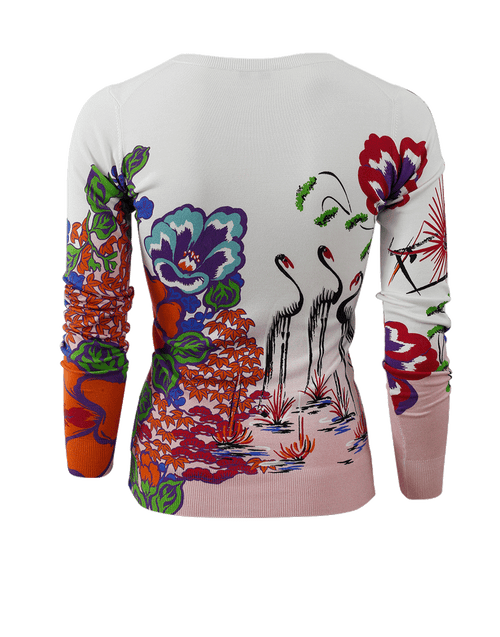 ETRO CLOTHINGTOPSWEATER Floral Print Knit Pullover