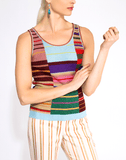 ETRO CLOTHINGTOPTANK Wakana Striped Lurex Top