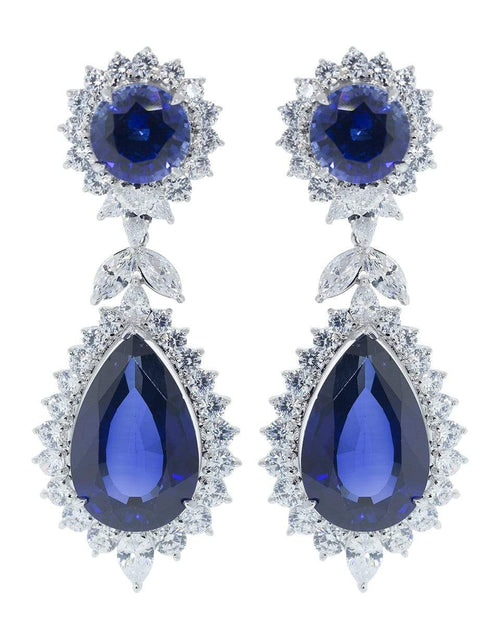 FANTASIA by DESERIO JEWELRYBOUTIQUEEARRING W VSAPCZ Cubic Zirconia Marquise Drop Earrings