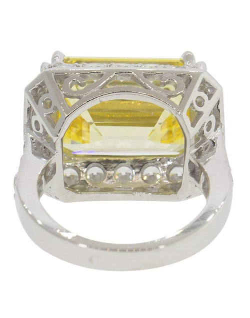 FANTASIA by DESERIO JEWELRYBOUTIQUERING W14KCANC Pave Asscher Cut Ring