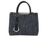 FENDI HANDBAGTOTES BLUE/BLK 2Jours Mini Shopping Bag
