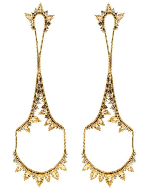 FERNANDO JORGE JEWELRYFINE JEWELEARRING YLWGOLD Topaz and Diamond Electric Drop Earrings