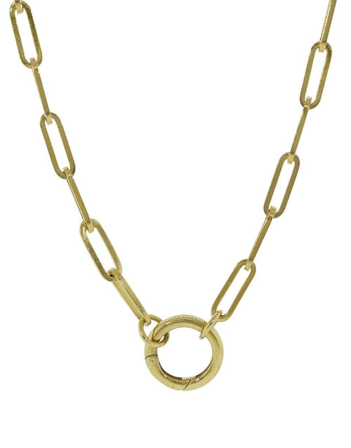 FOUNDRAE JEWELRYFINE JEWELNECKLACE O YLWGOLD Fob Chain with Classic Chubby Annex Clip