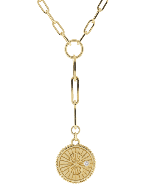 FOUNDRAE JEWELRYFINE JEWELNECKLACE O YLWGOLD Karma Medallion Necklace