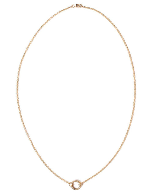FOUNDRAE JEWELRYFINE JEWELNECKLACE O YLWGOLD Small Belcher Open Chain with Chubby Annex Clip