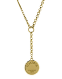 FOUNDRAE JEWELRYFINE JEWELNECKLACE O YLWGOLD Strength Medallion Necklace