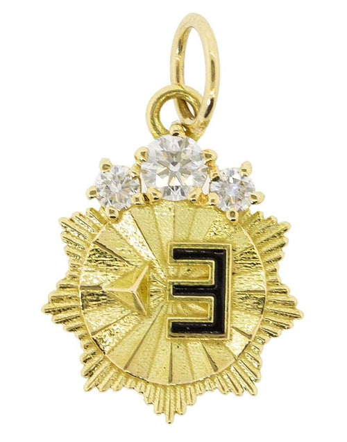 FOUNDRAE JEWELRYFINE JEWELPENDANT YLWGOLD New Beginnings Mini Medallion