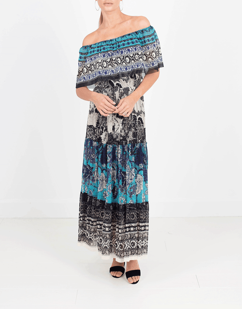 FUZZI CLOTHINGDRESSCASUAL Off Shoulder Midi Dress