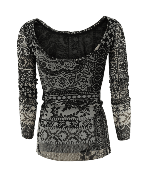 FUZZI CLOTHINGTOPMISC Mosaic Reversible Top