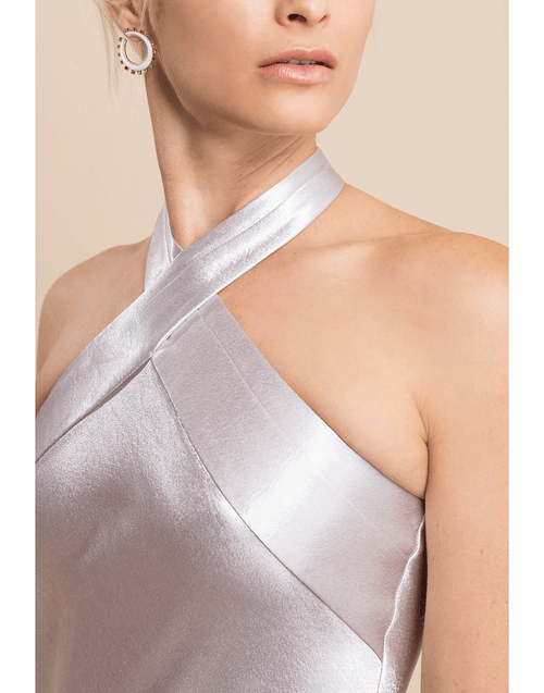 GALVAN LONDON CLOTHINGDRESSEVENING Metallic Eve Dress
