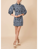 GANNI CLOTHINGDRESSCASUAL Balloon Sleeve Print Shirt Dress
