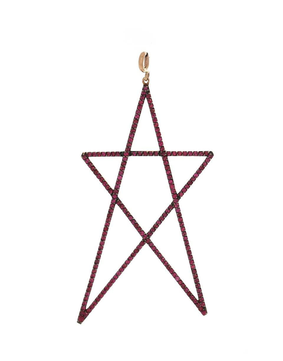 Image of Large Ruby Star Pendant