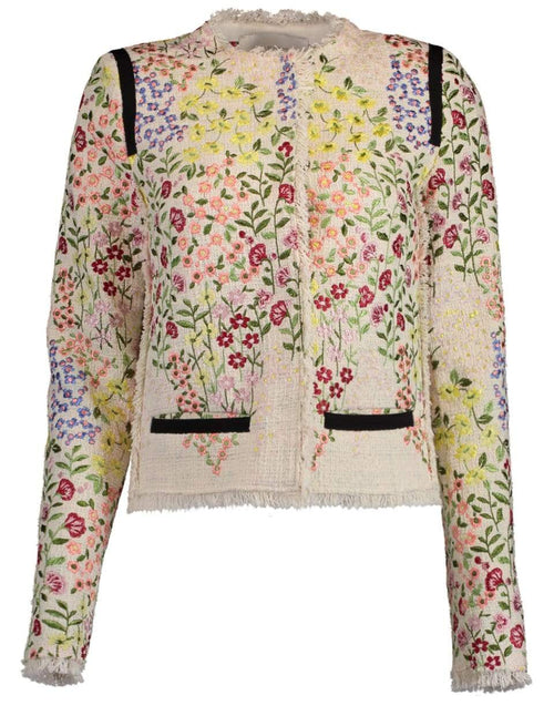 GIAMBATTISTA VALLI CLOTHINGJACKETMISC IVORY / 40 Gilly Flower Tweed Jacket