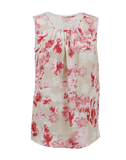 GIAMBATTISTA VALLI CLOTHINGTOPBLOUSE Sleeveless Back Zip Floral Blouse