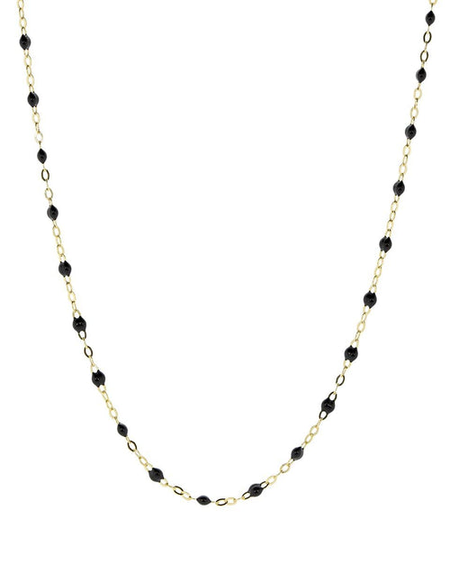 GIGI CLOZEAU JEWELRYBOUTIQUENECKLACE O YG/BLK Black Bead Classic Gigi Necklace
