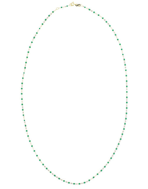 GIGI CLOZEAU JEWELRYBOUTIQUENECKLACE O YG/EMRLD Emerald Bead Classic Gigi Sautoir Necklace
