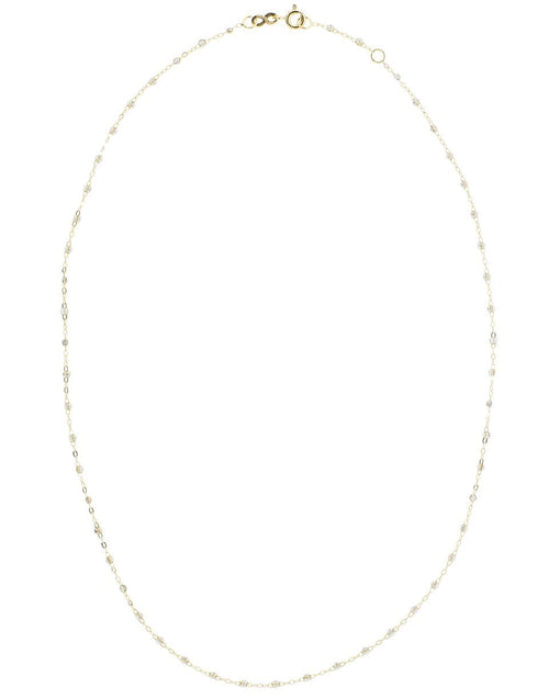 GIGI CLOZEAU JEWELRYBOUTIQUENECKLACE O YG/WHT White Bead Classic Gigi Necklace