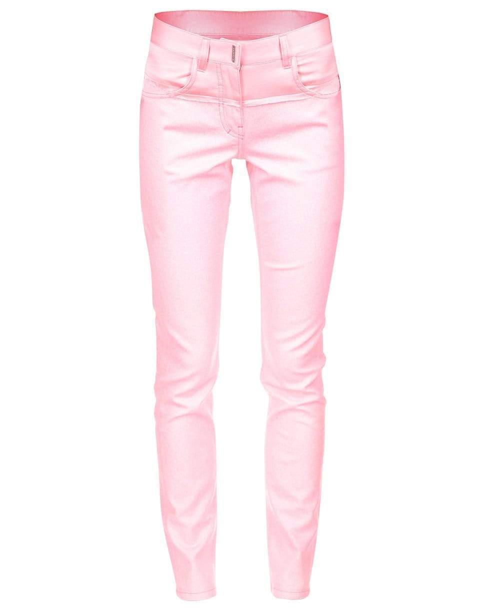 Image of Candy Pink Stretch Glitter Denim Pant