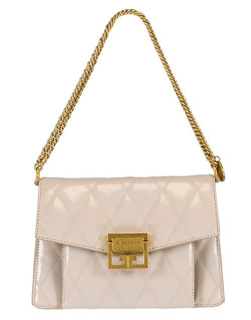 GIVENCHY HANDBAGSHOULDER NATURAL Small Quilted Leather GV3 Handbag