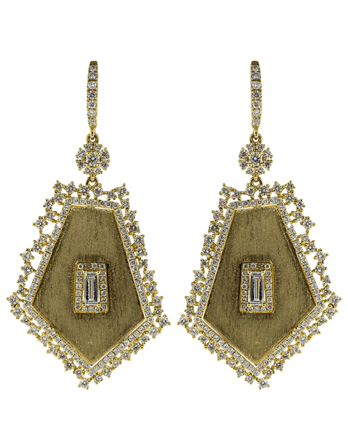 GRAZIELA JEWELRYFINE JEWELEARRING YLWGOLD Large Pentagon Slice Earrings