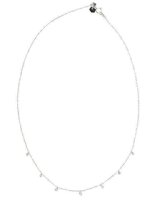 GRAZIELA JEWELRYFINE JEWELNECKLACE O WHTGOLD Medium Floating Diamond Necklace