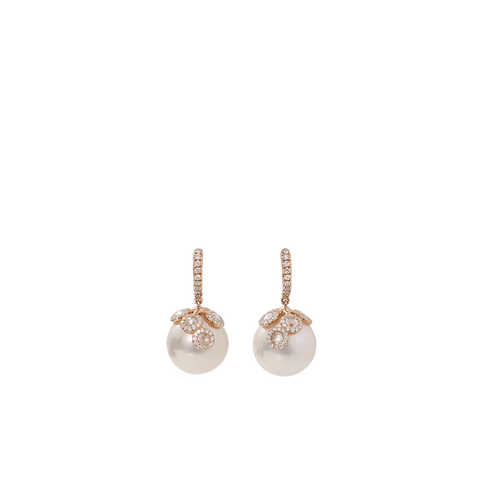 INBAR JEWELRYFINE JEWELEARRING ROSEGOLD Peal Drop Earrings