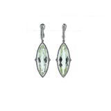 INBAR JEWELRYFINE JEWELEARRING WHTGOLD Green Beryl And Diamond Drop Earrings