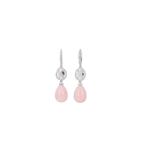 INBAR JEWELRYFINE JEWELEARRING WHTGOLD Pink Opal Earrings