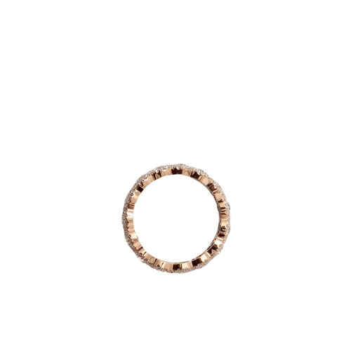 INBAR JEWELRYFINE JEWELRING ROSEGOLD / 5.75 Oval Diamond Eternity Band