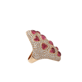 INBAR JEWELRYFINE JEWELRING ROSEGOLD / 6.75 Rubelite And Diamond Ring
