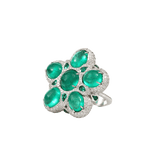 INBAR JEWELRYFINE JEWELRING WHTGOLD / 6 Emerald Flower Ring