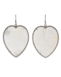 IRENE NEUWIRTH JEWELRY JEWELRYFINE JEWELEARRING WHTGOLD Rainbow Moonstone Heart Earrings