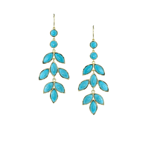 IRENE NEUWIRTH JEWELRY JEWELRYFINE JEWELEARRING YLLW GLD Turquoise Marquise Earrings