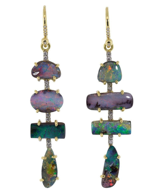 IRENE NEUWIRTH JEWELRY JEWELRYFINE JEWELEARRING YLWGOLD Boulder Opal and Diamond Drop Earrings