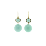 IRENE NEUWIRTH JEWELRY JEWELRYFINE JEWELEARRING YLWGOLD Tourmaline And Green Opal Earrings