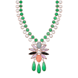 IRENE NEUWIRTH JEWELRY JEWELRYFINE JEWELNECKLACE O ROSEGOLD Mixed Gemstone Pendant Necklace