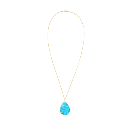 IRENE NEUWIRTH JEWELRY JEWELRYFINE JEWELNECKLACE O YLWGOLD Kingman Turquoise And Diamond Necklace