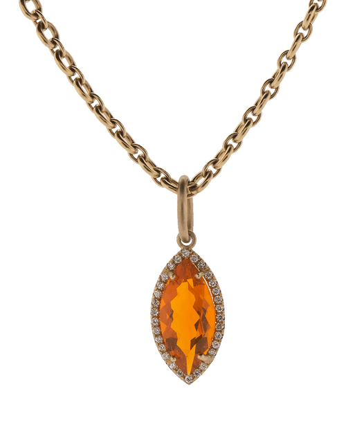 IRENE NEUWIRTH JEWELRY JEWELRYFINE JEWELPENDANT ROSEGOLD Fire Opal And Diamond Pendant