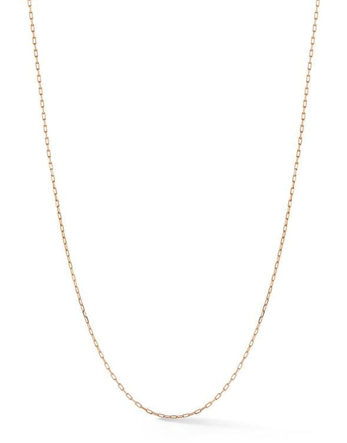 JADE TRAU JEWELRYFINE JEWELNECKLACE O ROSEGOLD Rectangle Link Chain