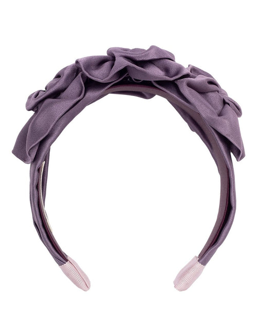 JENNIFER BEHR ACCESSORIEMISC PURPLE Triple Rosette Duchess Satin Headband