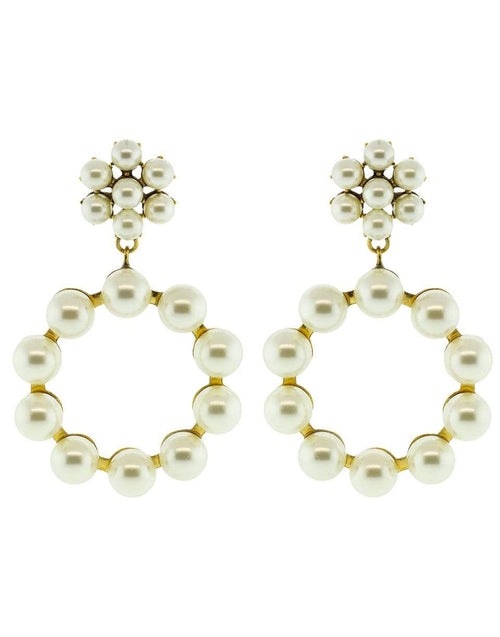 JENNIFER BEHR JEWELRYBOUTIQUEEARRING GLD PRL Leilani Earrings