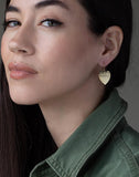 JENNIFER MEYER JEWELRYFINE JEWELEARRING YLWGOLD Hammered Heart Drop Earrings
