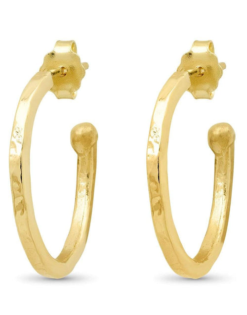 JENNIFER MEYER JEWELRYFINE JEWELEARRING YLWGOLD Small Hammered Hoops