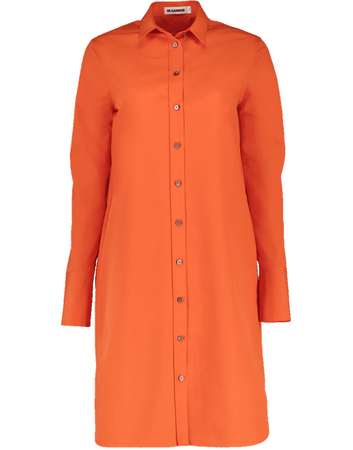 JIL SANDER CLOTHINGDRESSCASUAL Ginepro Straight Fitted Shirt Dress