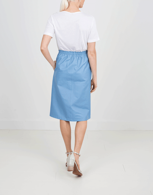 JIL SANDER CLOTHINGSKIRTMISC BLUE / 36 Cayena Leather Skirt