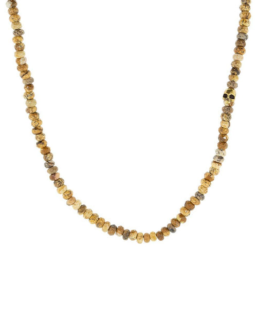 JOHN VARVATOS JEWELRYFINE JEWELNECKLACE O BRASS Jasper Beaded Necklace