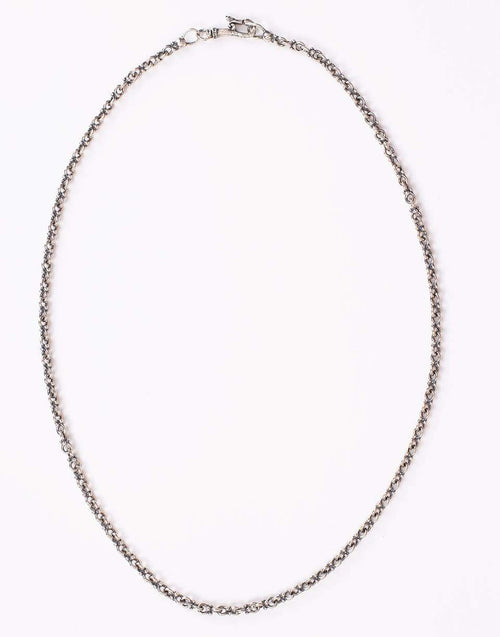 JOHN VARVATOS JEWELRYFINE JEWELNECKLACE O SILVER Plain Double Round Silver Chain