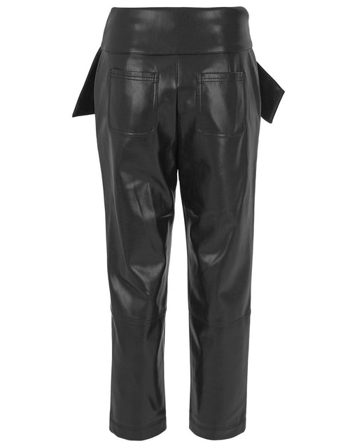 JONATHAN SIMKHAI CLOTHINGPANTMISC Black Tessa Vegan Leather Tie Waist Pant